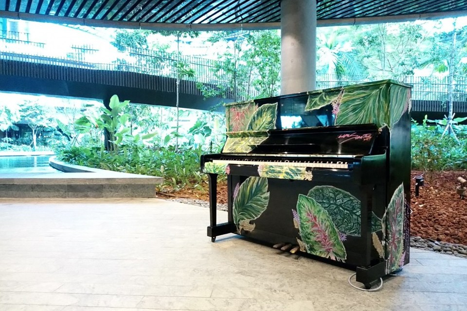 Upright Pianos at Marina One by M+S Pte Ltd