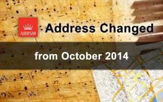 ABRSM Change of Address October 2014