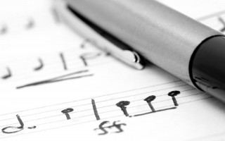 Music notation with pen