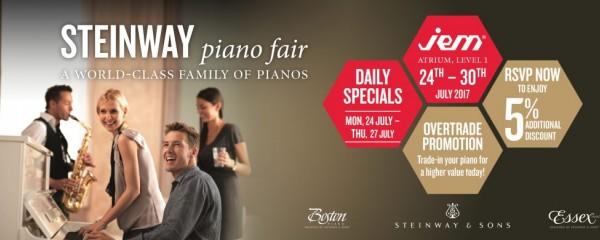 Steinway Piano Fair @ JEM Atrium