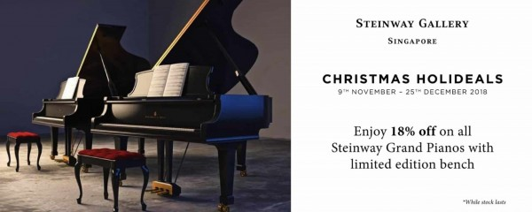 Christmas Holideals @ Steinway Gallery Singapore