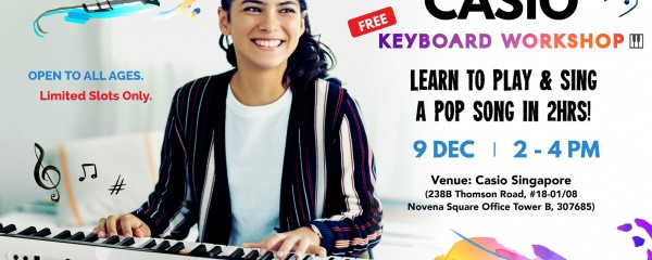 Casio Keyboard Workshop - Learn to Play & Sing a Pop Song in 2hrs!
