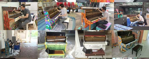"""Behind the scenes of the project """"Play Me, I'm Yours (Singapore)"""" - Tuning the 25 pianos"""
