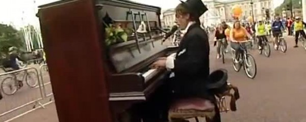 Piano On Wheels Entertains Crowds