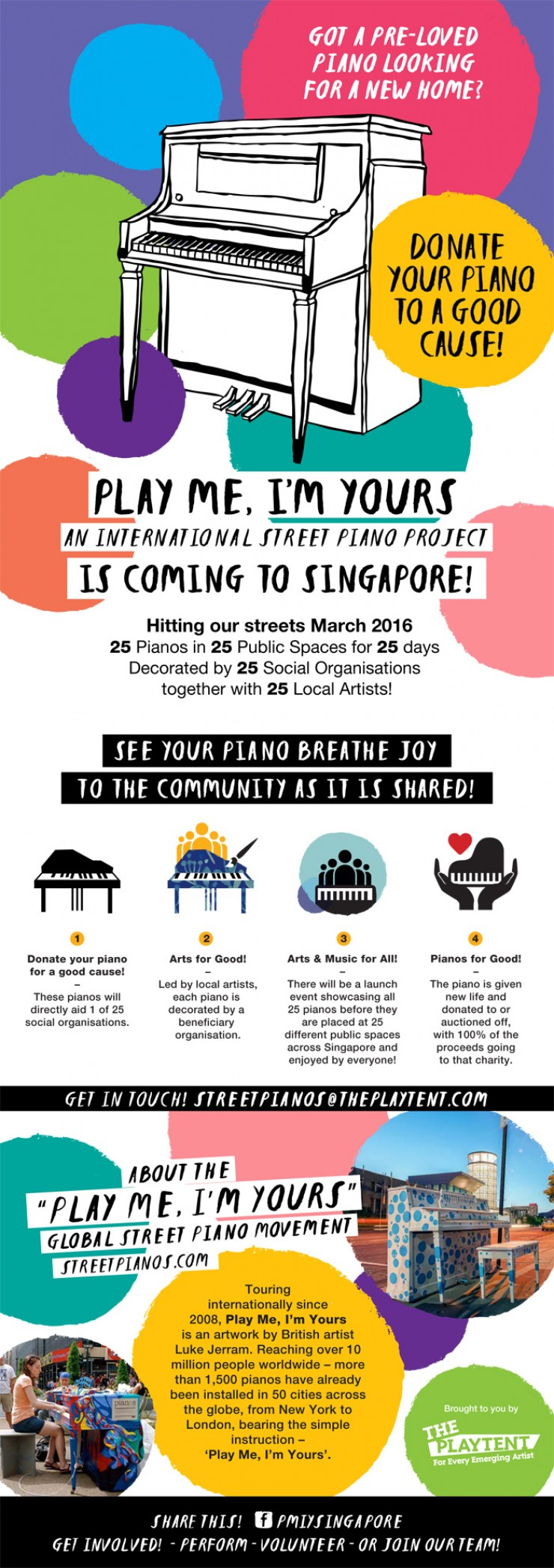 International Street Piano Project: Play Me, I'm Yours, in Singapore, March 2016