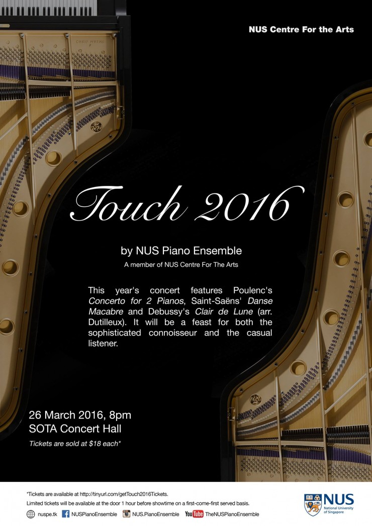 NUS piano Ensemble presents Touch 2016