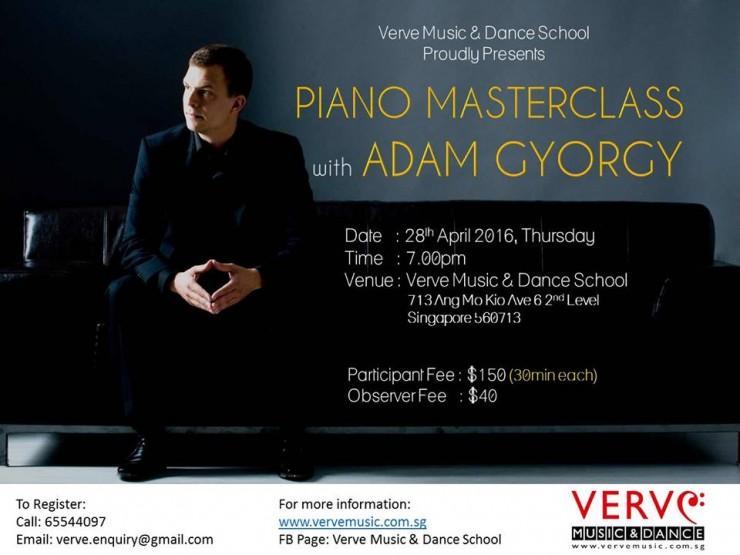 Piano Masterclass with Adam Gyorgy, Apr 2016