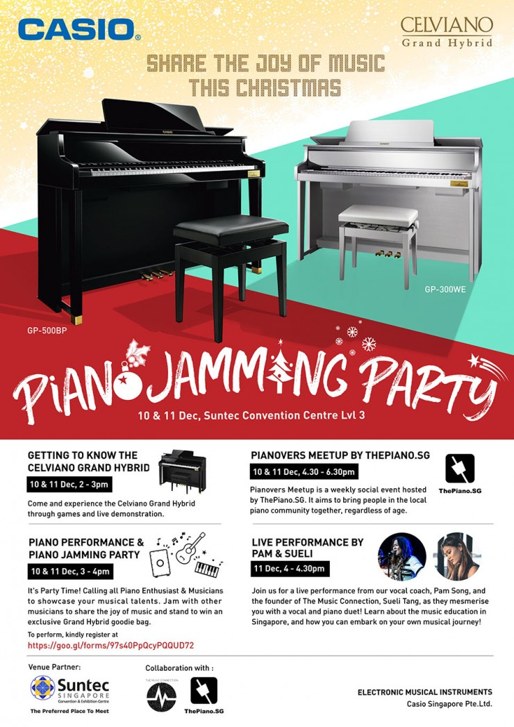 Piano Jamming Party, Share the Joy of Music this Christmas 2016