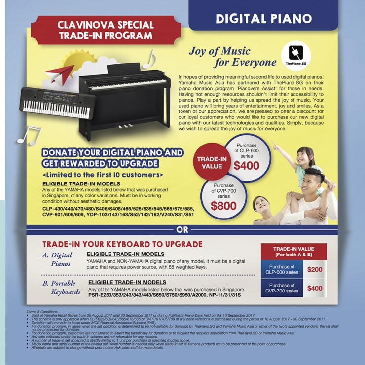 Clavinova Trade-In Special Program with Pianovers Assist