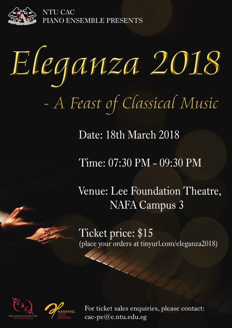 NTU CAC Piano Ensemble Eleganza 2018