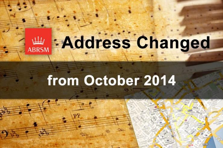 Change in Singapore ABRSM Representative Office's Address