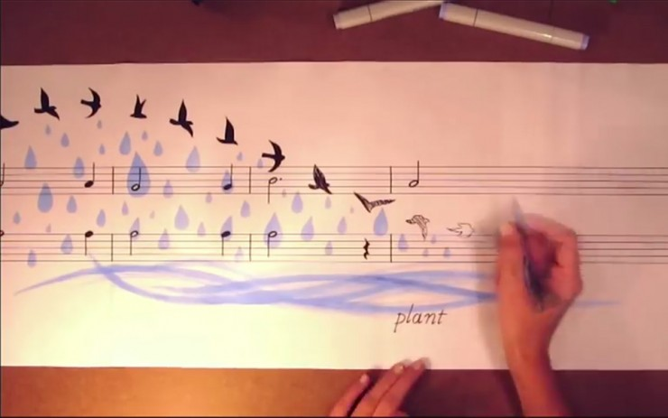 Music Painting Adds Artistic Dimensions To Beautiful Melodies
