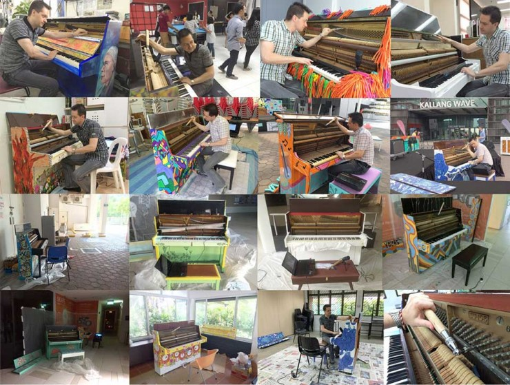 "Behind the scenes of the project ""Play Me, I'm Yours (Singapore)"" - Tuning the 25 pianos"