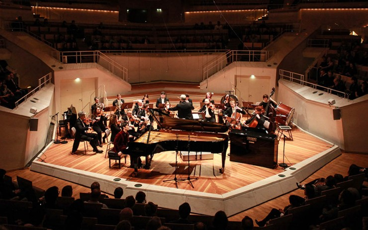 Casio CELVIANO Grand Hybrid Piano versus Concert Grand Successful Premiere at Berlin Philharmonie