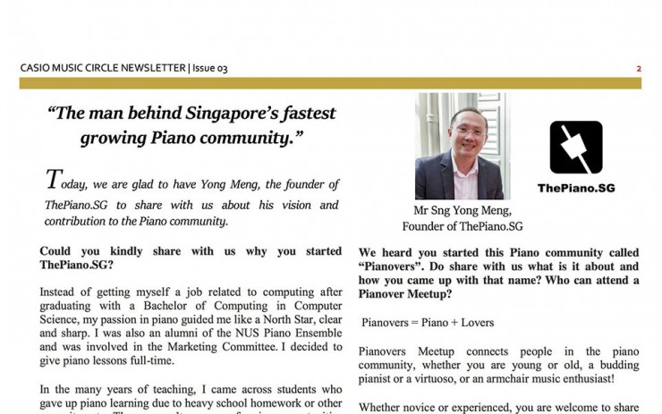 Casio's Interview with Sng Yong Meng