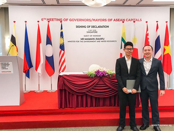 ThePiano.SG Participates in 6th Meeting of Governors/Mayors of Asean Capitals, Ma Yuchen, and Sng Yong Meng