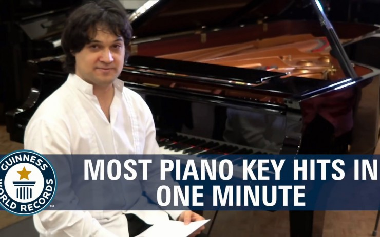 Most Piano Keys Hits In One Minute
