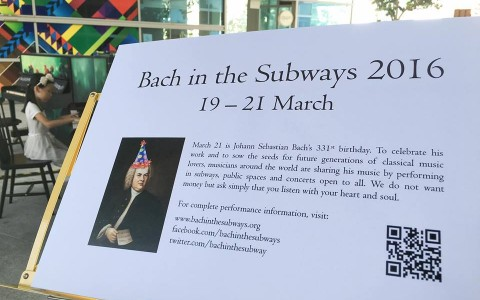 Bach in the Subways Singapore 2016, brings baroque piano music to Singaporeans