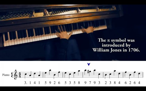 Musical visualisations of Pi