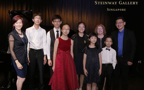3rd Steinway Youth Piano Competition grand finalists with adjudicators
