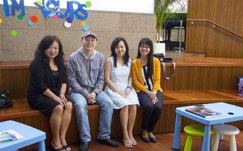 Serene Chew, Sng Yong Meng, Pauline Tan, Liew Hui Jie, at second ThePiano.SG piano teachers' outing