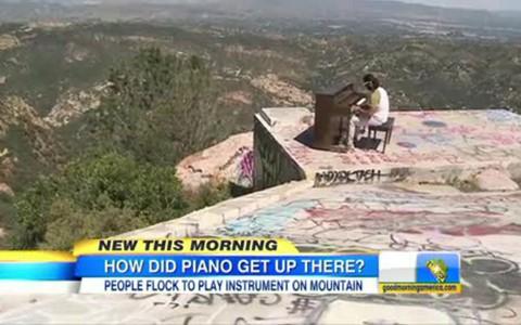 Piano on Santa Monica Mountain