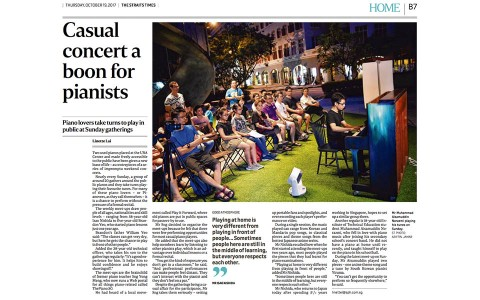 Pianovers Meetup Is Featured In The Straits Times