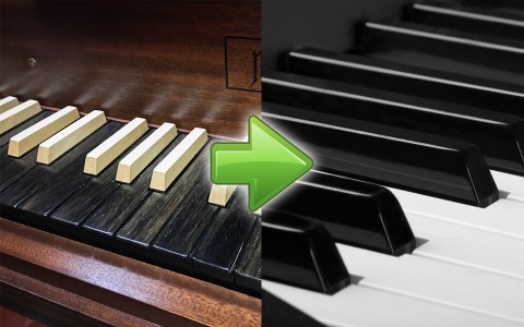 Piano's Black Keys Were White, and White Keys Were Black In The Past