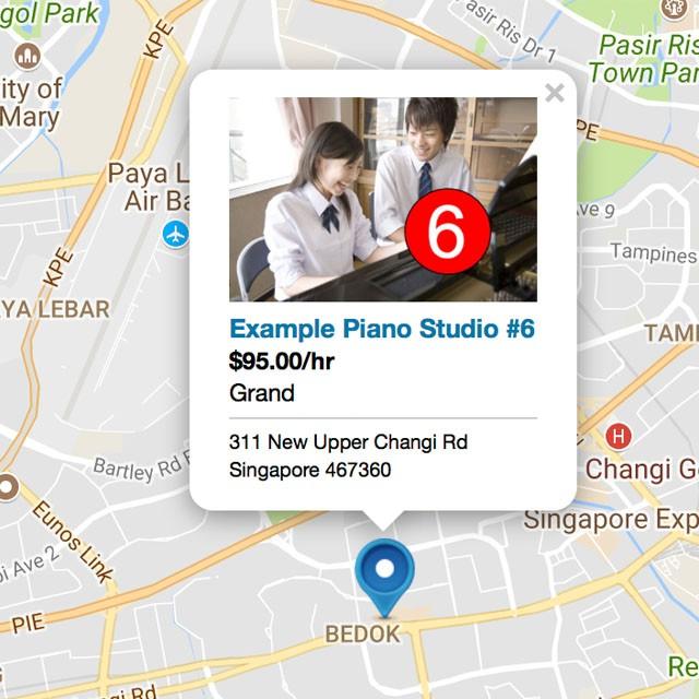 Piano Studio Rental Listing