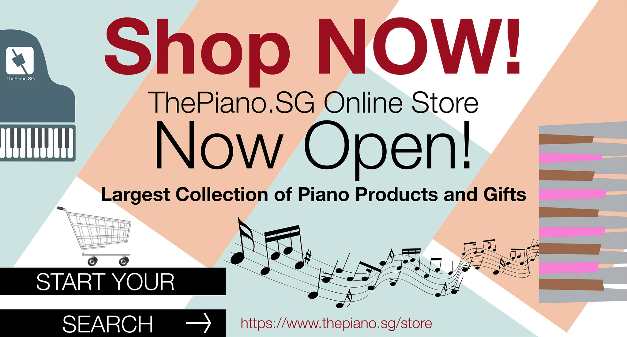 ThePiano.SG Online Store Is Now Open