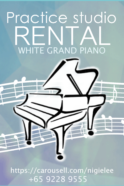 Practice Studio Rental, White Grand Piano, Nigel Lee, 92289555