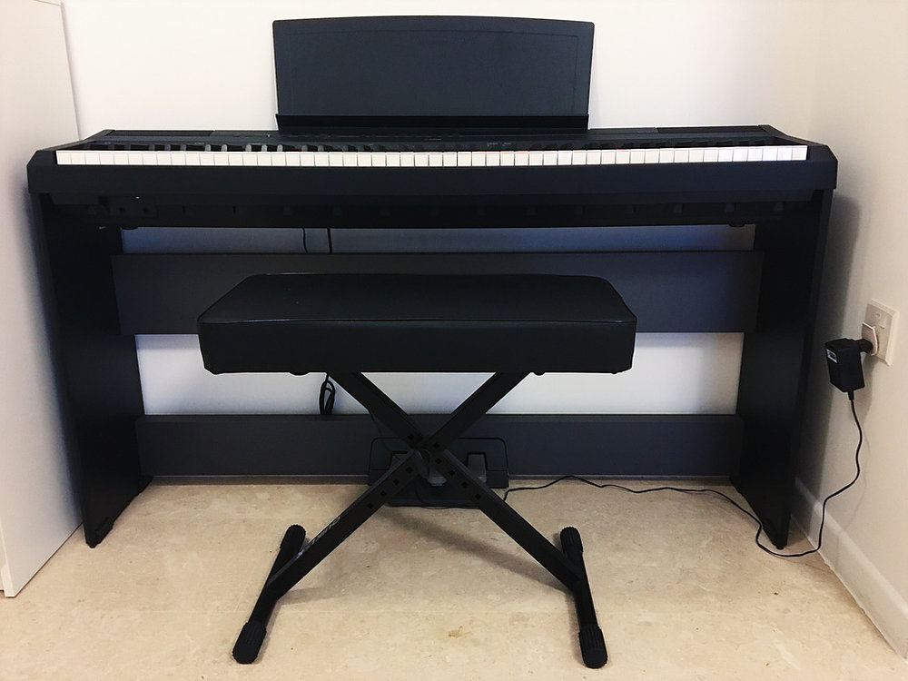 yamaha p115 used piano thepiano sg. Black Bedroom Furniture Sets. Home Design Ideas
