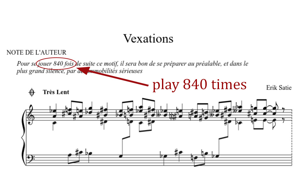 Vexations The Longest Piano Piece Thepiano Sg